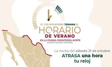 El domingo 25 de octubre termina el Horario de Verano